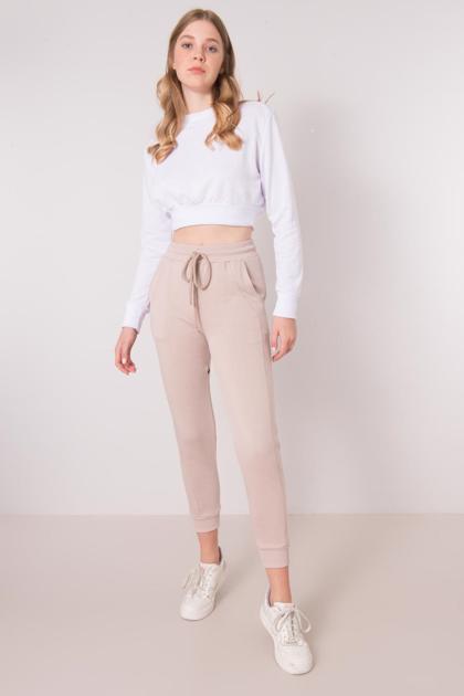 Beżowe spodnie dresowe BSL