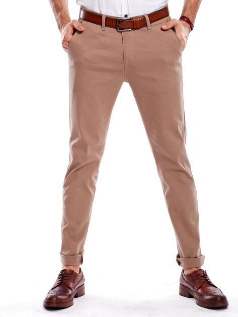 Beżowe spodnie męskie chinosy                                  zdj.                                  2