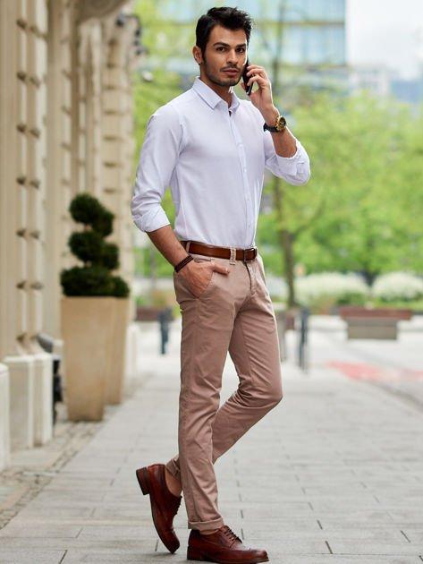 Beżowe spodnie męskie chinosy                                  zdj.                                  1