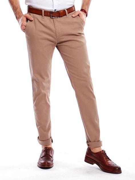 Beżowe spodnie męskie chinosy                                  zdj.                                  7