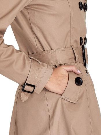 Beżowy klasyczny płaszcz typu trencz                                  zdj.                                  6