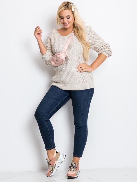 Beżowy sweter plus size Tango                              zdj.                              4