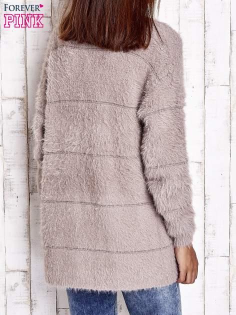 Beżowy sweter ze złotymi suwakami                                  zdj.                                  5
