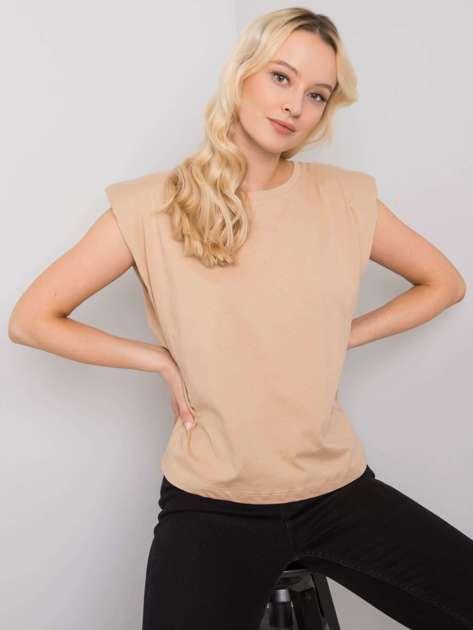 Beżowy t-shirt z bawełny Endless