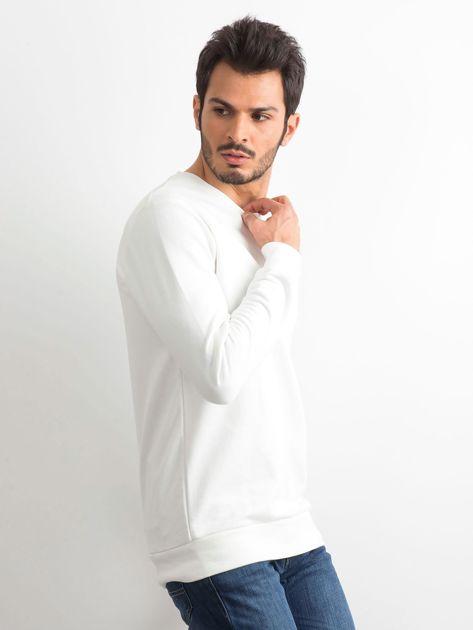 Biała bawełniana bluza męska                              zdj.                              3