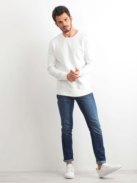 Biała bawełniana bluza męska                              zdj.                              4
