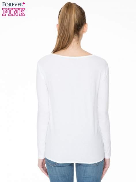 Biała bawełniana bluzka z gumką na dole                                  zdj.                                  4