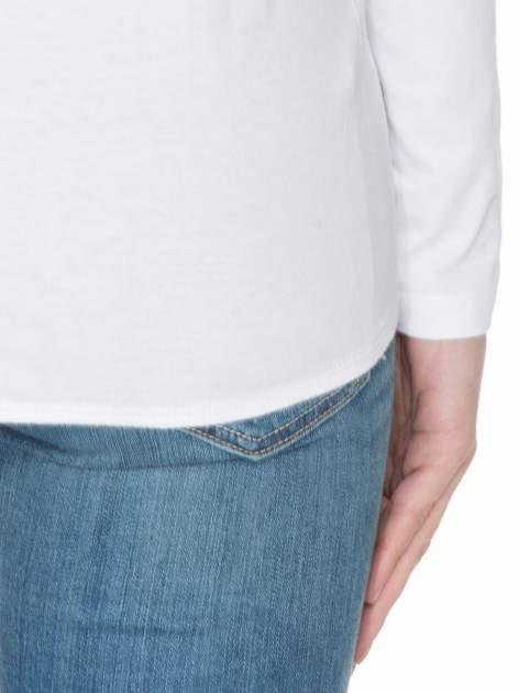 Biała bawełniana bluzka z gumką na dole                                  zdj.                                  6