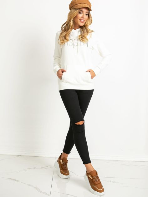 Biała bluza Bisou                              zdj.                              4