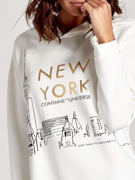 Biała bluza z nadrukiem NEW YORK                                  zdj.                                  8