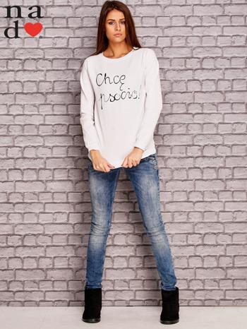 Biała bluza z napisem CHCĘ PSOCIĆ                              zdj.                              4