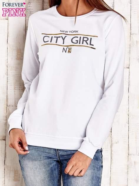 Biała bluza z napisem CITY GIRL                                  zdj.                                  1
