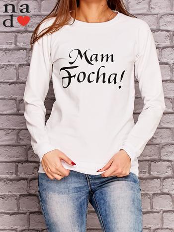 Biała bluza z napisem MAM FOCHA                              zdj.                              1
