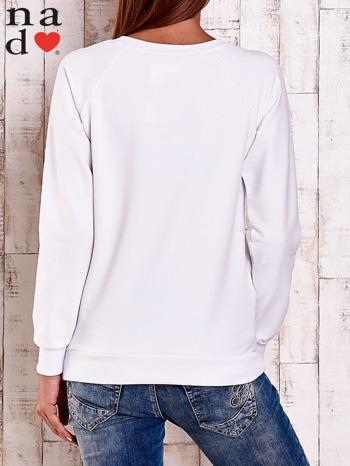 Biała bluza z napisem PARIS LONDON NEW YORK                                  zdj.                                  5
