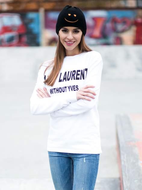 Biała bluza z narukiem AIN'T LAURENT WITHOUT YVES                                  zdj.                                  9