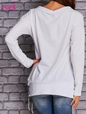 Biała bluza z wiązaniami                                  zdj.                                  2