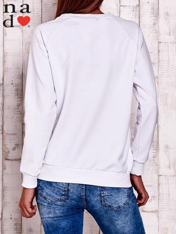 Biała bluza z wzorem serca                                  zdj.                                  4