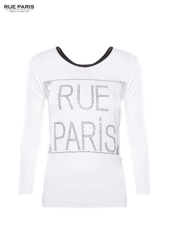 Biała bluzka RUE PARIS z cyrkoniami