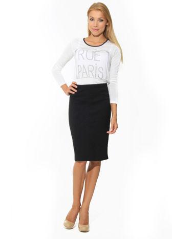 Biała bluzka RUE PARIS z cyrkoniami                                   zdj.                                  3