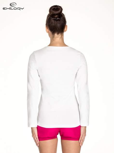 Biała bluzka sportowa basic PLUS SIZE                                  zdj.                                  4
