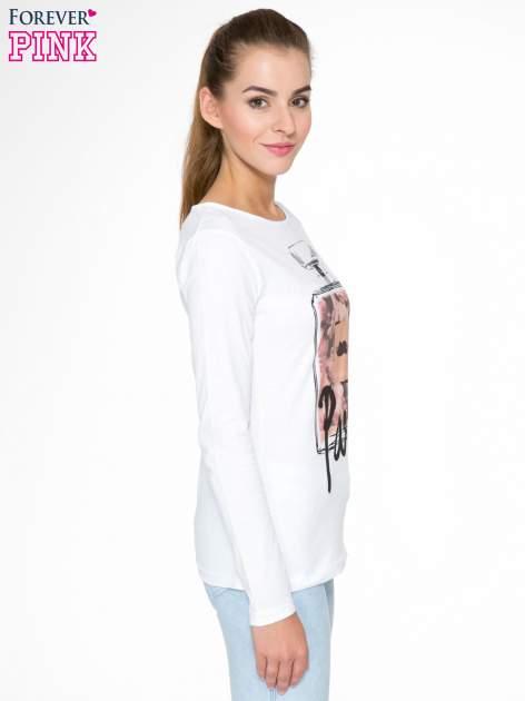 Biała bluzka z motywem Paryża                                  zdj.                                  3