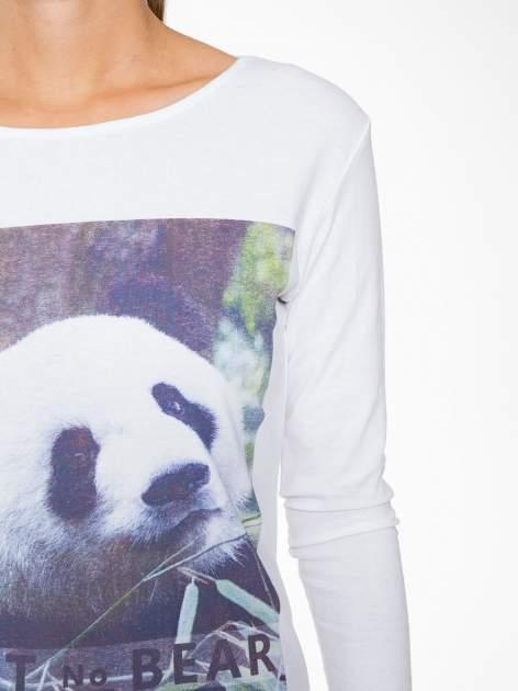 Biała bluzka z nadrukiem pandy                                  zdj.                                  7