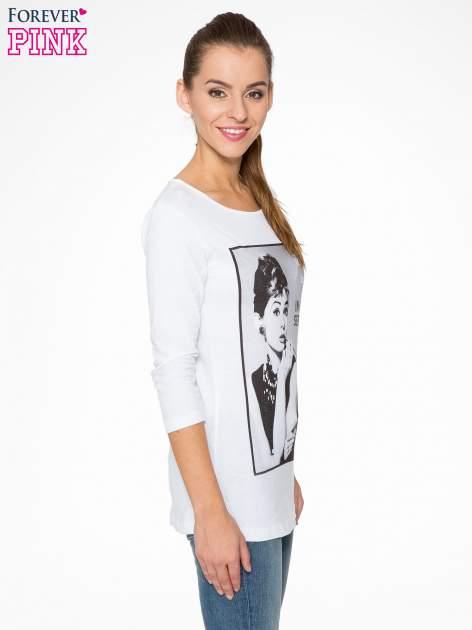 Biała bluzka z portretem Audrey Hepburn                                  zdj.                                  3