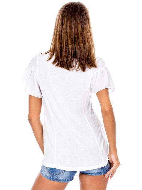 Biała bluzka z szerokimi rękawami                              zdj.                              2