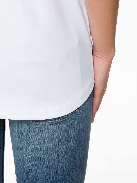 Biała bluzka z transparentnymi rękawkami                                  zdj.                                  10