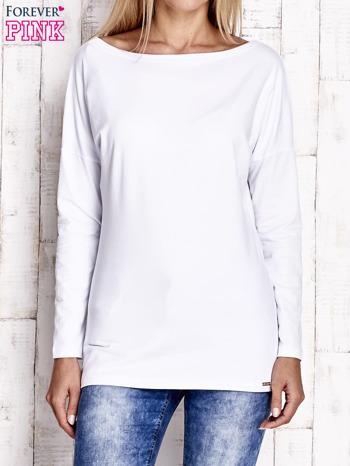 Biała bluzka z wycięciem na plecach i kokardą                                  zdj.                                  1