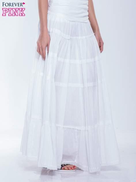 Biała długa spódnica maxi w stylu boho                                  zdj.                                  3