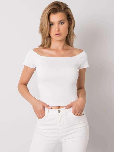 Biała dopasowana bluzka damska Promesse