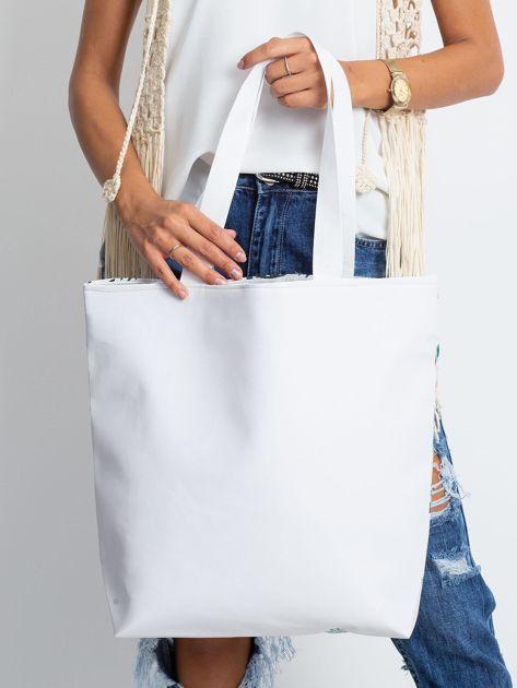 Biała duża torba z kolorowym nadrukiem                              zdj.                              2