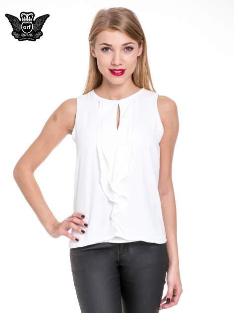 Biała elegancka koszula z żabotem
