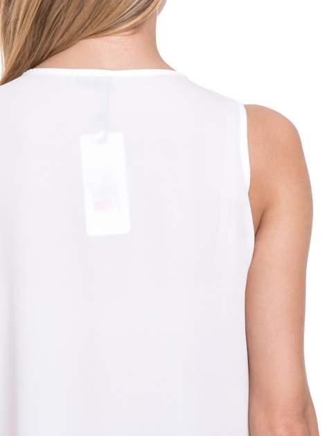 Biała elegancka koszula z żabotem                                  zdj.                                  7
