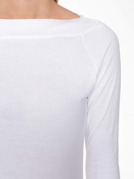 Biała gładka bluzka z reglanowymi rękawami                                  zdj.                                  6
