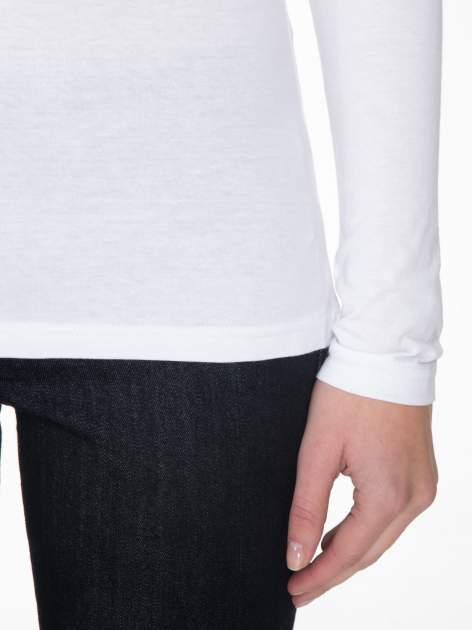 Biała gładka bluzka z reglanowymi rękawami                                  zdj.                                  7
