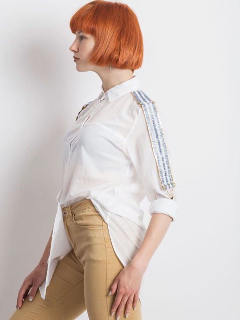 Biała koszula Secondly                              zdj.                              3