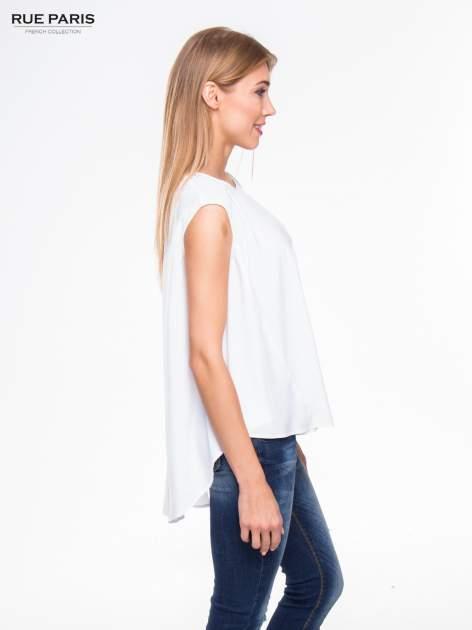 Biała koszula dzwonek z wydłużanym tyłem                                  zdj.                                  3