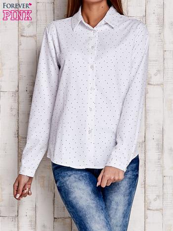Biała koszula z delikatnym wzorem                              zdj.                              1