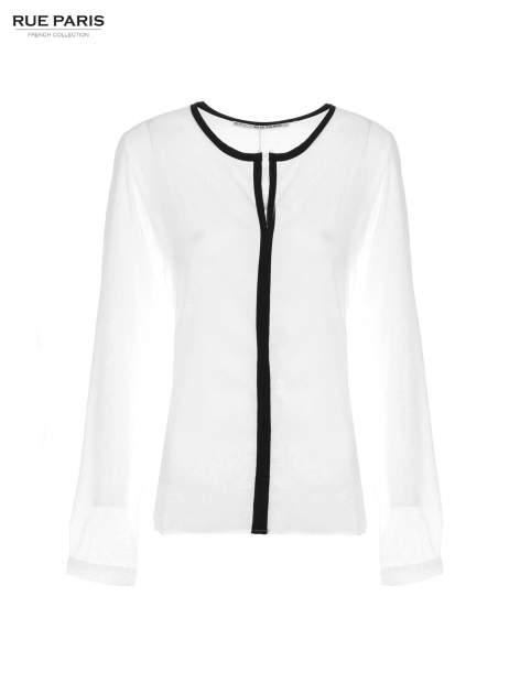 Biała koszula z kontrastową listwą                                  zdj.                                  5