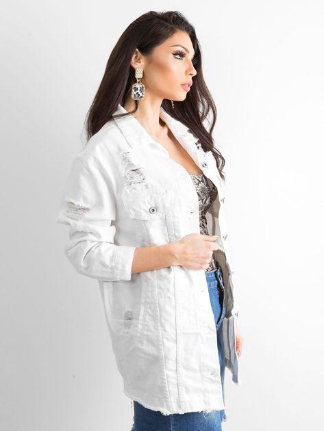 Biała kurtka jeansowa Modern                              zdj.                              3