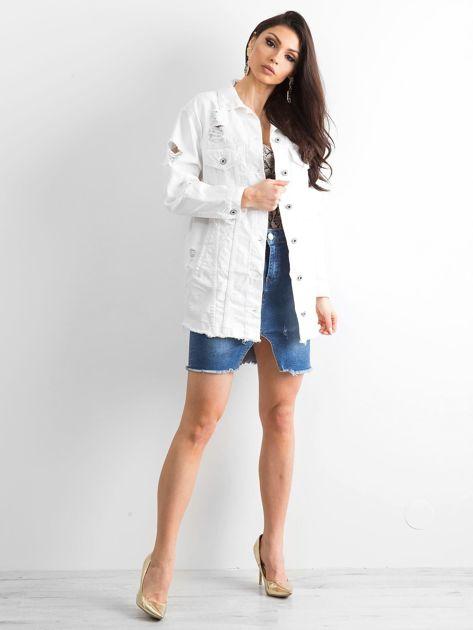 Biała kurtka jeansowa Modern                              zdj.                              4
