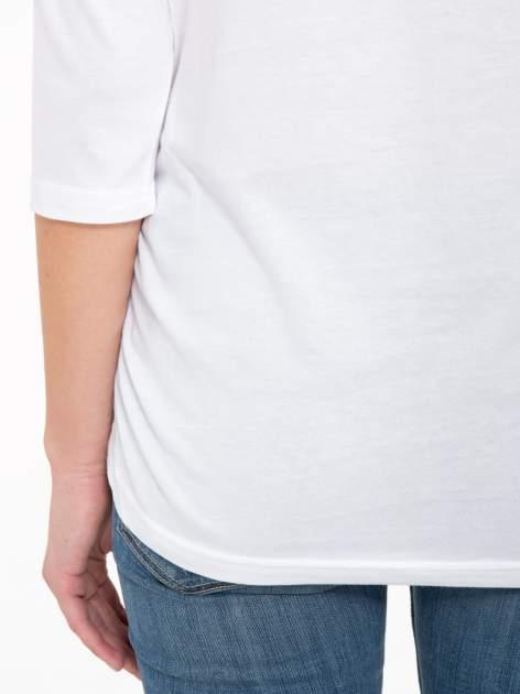 Biała luźna bluzka z rękawem 3/4                                  zdj.                                  10
