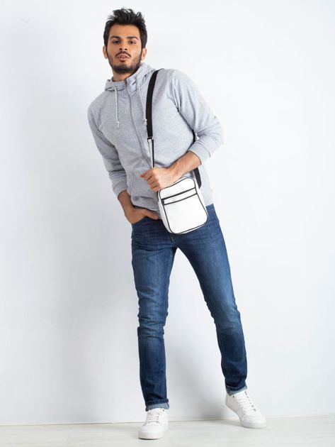 Biała męska torba listonoszka                              zdj.                              4