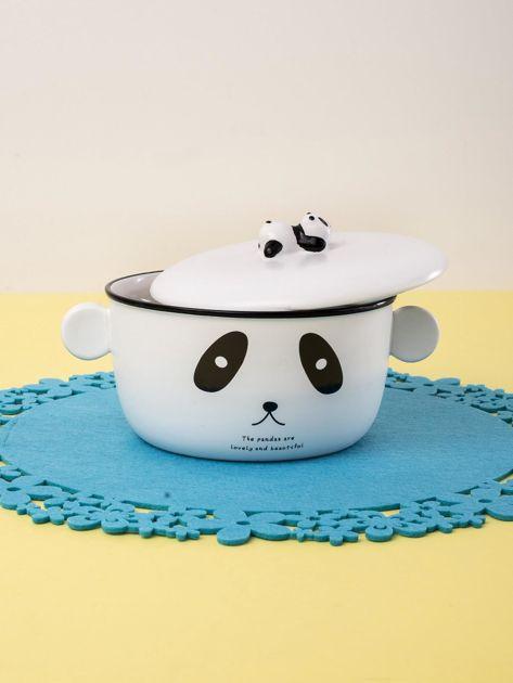 Biała miska ceramiczna z motywem pandy                              zdj.                              4
