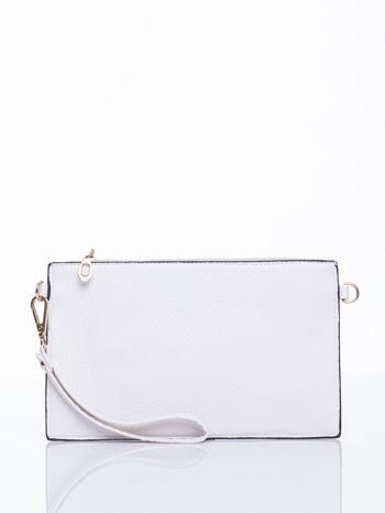 Biała prosta przewieszana torebka z uchwytem                                  zdj.                                  2