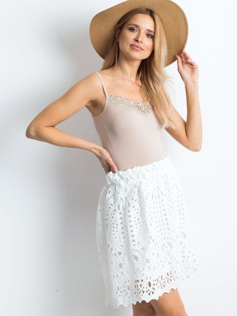 Biała spódnica Princess                              zdj.                              3