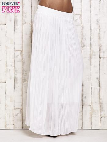 Biała spódnica maxi w plisy                                  zdj.                                  1