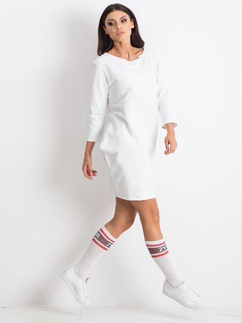 Biała sukienka Distinguished                              zdj.                              4